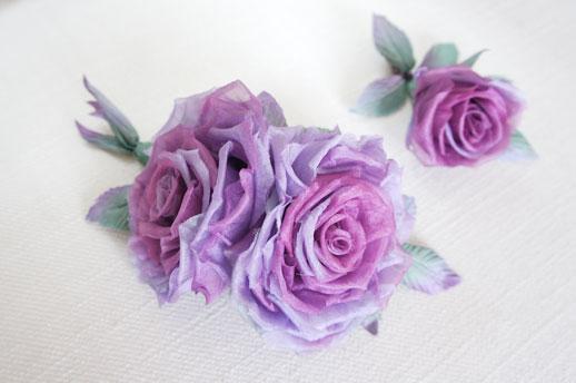 8dec4ef29994 Воздушные и очень нежные розы из натурального шелка, легкие как перышко!  Эта работа вызывает восхищение!