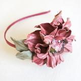 """Камелия """"Парижанка"""" розовый, ободок"""