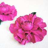 """""""Роза мини"""" клипсы для туфель, кожа, розовый"""