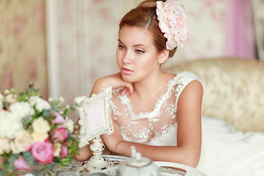 Нежный свадебный образ - первая фотография!