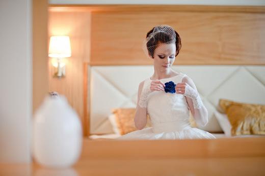 Наша невеста Ольга - cвадебный образ в ретро стиле с вуалью!