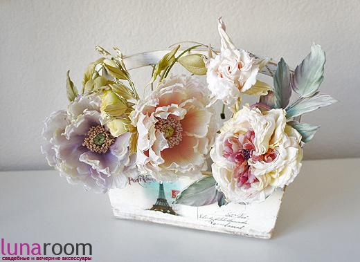 Новые прекрасные ободки с цветами от Полины Кузнецовой!