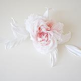 """""""Жози"""" роза белая, натуральный шелк"""