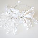 """""""Орхидея"""" шляпка, шелк, белая"""