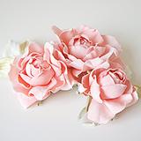 """Розы """"Мини"""" нат.шелк, розовый, 3 шт"""