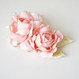 """Розы """"Мини"""" нат.шелк, розовый, 2 шт"""