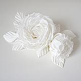 "Розы ""Belle"" натуральный шелк, белый"