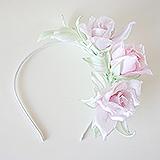 Ободок для волос с тремя розами