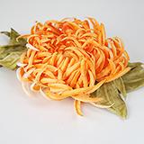 """""""Хризантема"""" заколка брошь, оранжевая"""