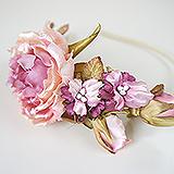 """""""Розовый сад"""" ободок для волос"""