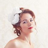 """""""White Princess"""" шляпка с вуалью"""