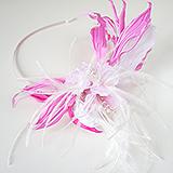 """""""Катрина"""" шляпка, ободок для волос, розовый"""