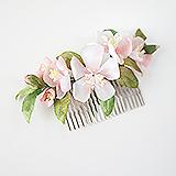 """""""Весна"""" гребень для волос с цветами"""