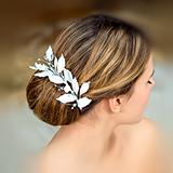 """""""Свадебные розы"""" украшение для волос с опалами"""