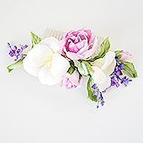 """""""Букет весны"""" гребень для волос с цветами, шелк"""