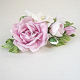 """""""Розы и фрезии"""" украшение для волос, шелк"""