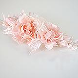 """""""Чайные розы"""" натуральный шелк, нежно розовый"""