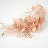 """""""Персиковый цвет"""" украшение для волос"""