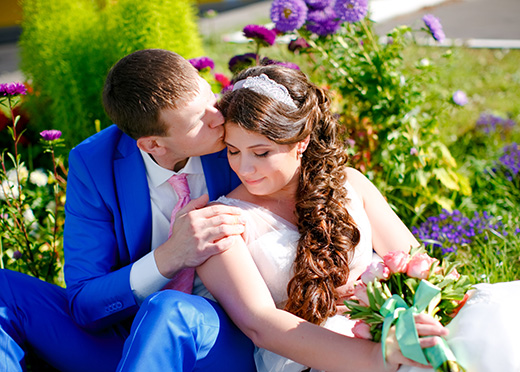 Наши невесты - Вера! Свадебная прическа с лентой для волос.