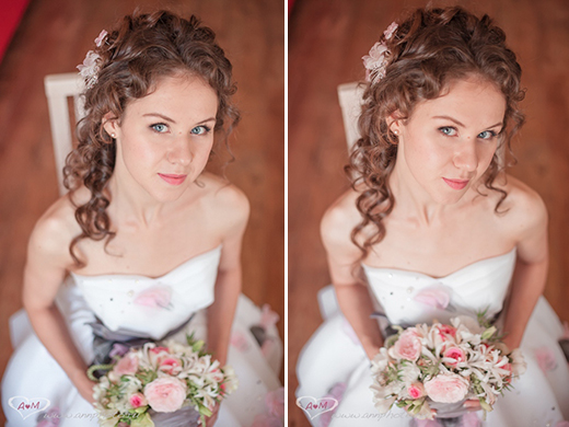 Наши невесты - Анастасия! Свадебная прическа с шелковыми цветами.