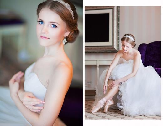 Наши невесты - Оксана! Свадебная прическа с лентой.