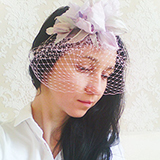 """June"" шляпка вуалетка с ирисом"
