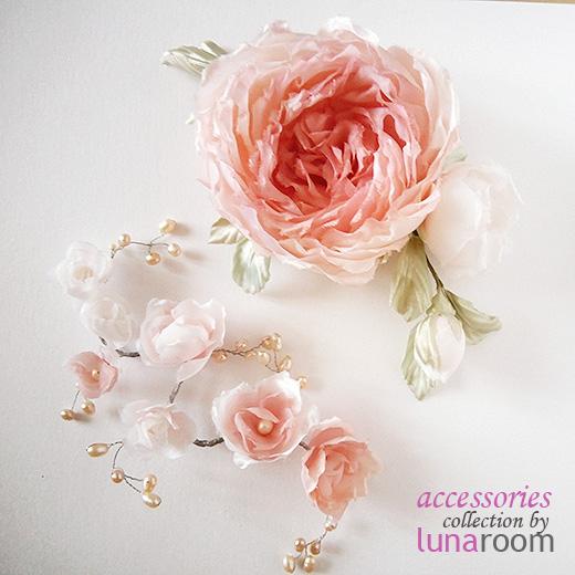 Для нежного образа - прекрасные цветы в пудровой гамме!