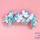 """""""Голубые цветы"""" гребень для волос"""
