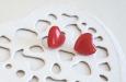 """""""Red hearts"""" серьги. Фото 1."""
