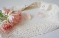 """""""Кружевные цветы"""" повязка для волос айвори. Фото 1."""