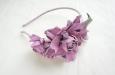 """""""Роза мини"""" розовый, ободок. Фото 3."""