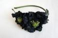 """Камелия """"Парижанка"""" черный, ободок. Фото 1."""