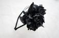 """""""Роза мини"""" черный, ободок. Фото 2."""