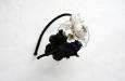 """""""Роза мини"""" черно-белый, ободок. Фото 1."""