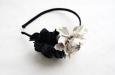 """""""Роза мини"""" черно-белый, ободок. Фото 2."""