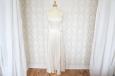 Платье длинное из натурального шелка с накидкой из кружева. Фото 1.