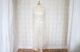 Платье длинное из натурального шелка с накидкой из кружева. Фото 3.