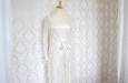Платье длинное из натурального шелка с накидкой из кружева. Фото 4.