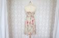Платье короткое с розовыми цветами из натурального шелка. Фото 2.