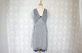 Синее двухслойное платье из натурального шелка. Фото 1.