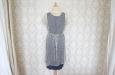 Синее двухслойное платье из натурального шелка. Фото 2.