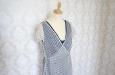 Синее двухслойное платье из натурального шелка. Фото 3.