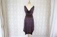 Короткое платье из натурального шелка с синими цветами. Фото 1.