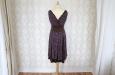 Короткое платье из натурального шелка с синими цветами. Фото 3.