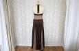 Длинное платье из натурального шелка коричневое . Фото 3.