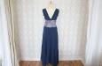 Длинное синее платья из натурального шелка с пиджаком. Фото 2.