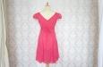 Платье короткое розовое с поясом. Фото 2.