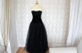 Платье из бархата и фатина с корсетом. Фото 1.