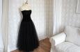 Платье из бархата и фатина с корсетом. Фото 2.