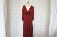Красное платье из натурального шелка. Фото 1.